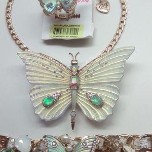 BetseyJohnsonNewButterflyNecklace,Bracelet&Ring